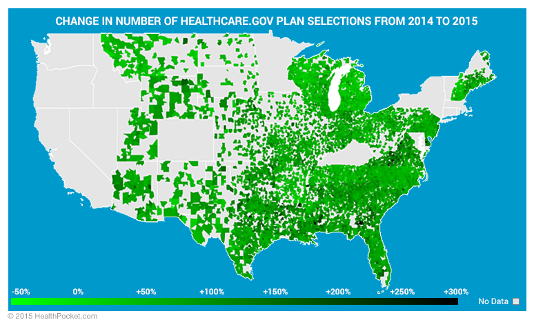 Plan selections decreased in 50 zip codes including 41 zip codes in Michigan - HealthPocket