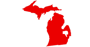A map of Michigan
